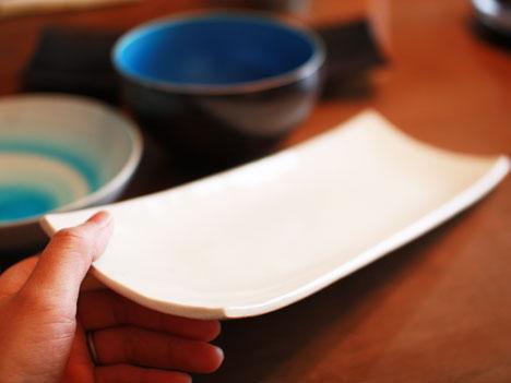 美濃焼の器とセットの長皿