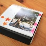 フジフィルムのマイカレンダー リングタイプを横にして撮影した写真